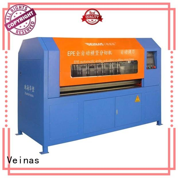 Veinas safe epe foam sheet cutting machine working video easy use for factory