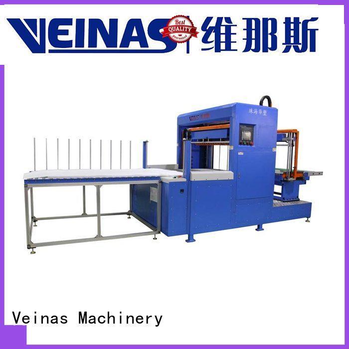 Veinas manual epe foam sheet cutting machine working video energy saving for foam