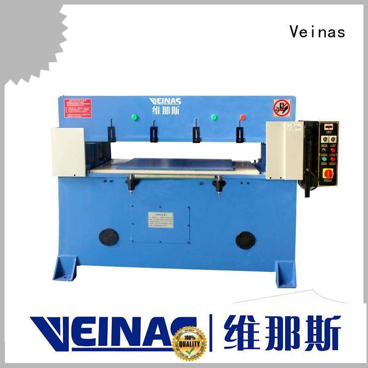 Veinas adjustable hydraulic cutting machine manufacturer for bag factory