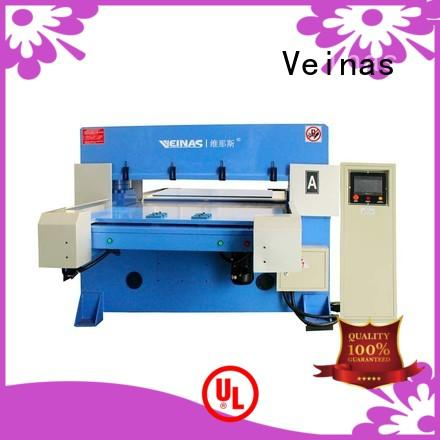 Veinas feeding hydraulic cutting machine simple operation for shoes factory
