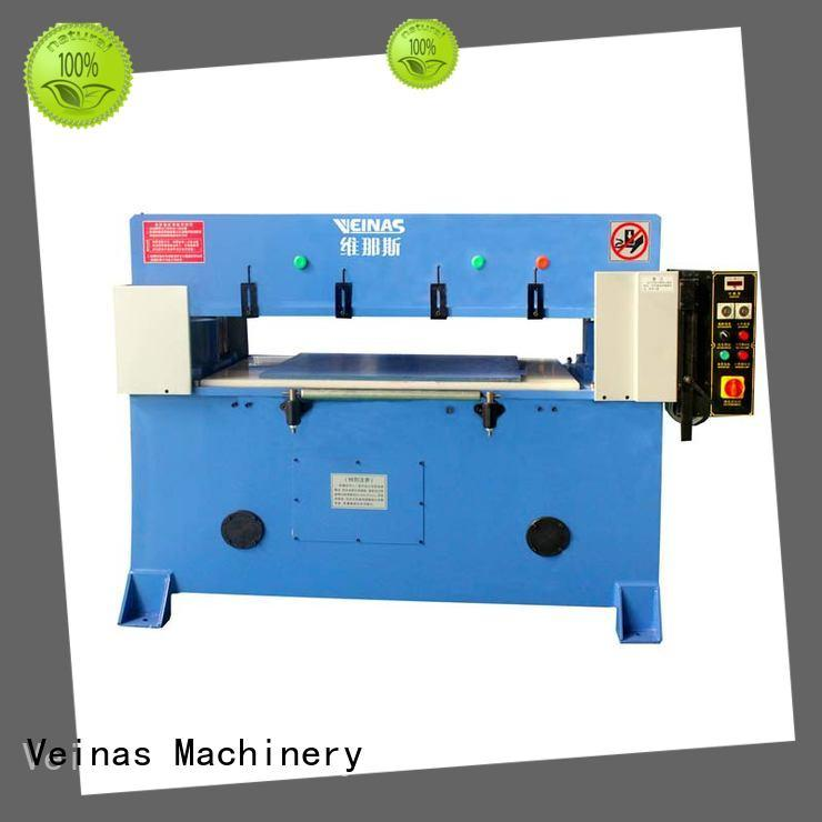 Veinas adjustable hydraulic angle cutting machine promotion for bag factory