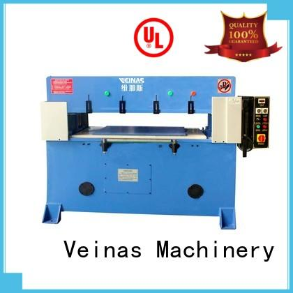 Veinas doubleside hydraulic angle cutting machine manufacturer for shoes factory