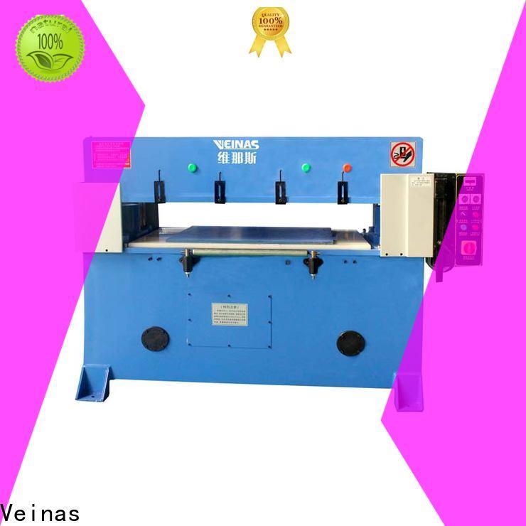Veinas fourcolumn hydraulic angle cutting machine energy saving for bag factory