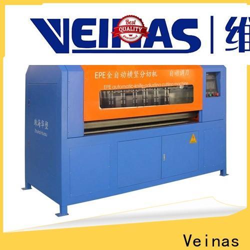 Veinas flexible epe foam sheet cutting machine working video for sale for workshop