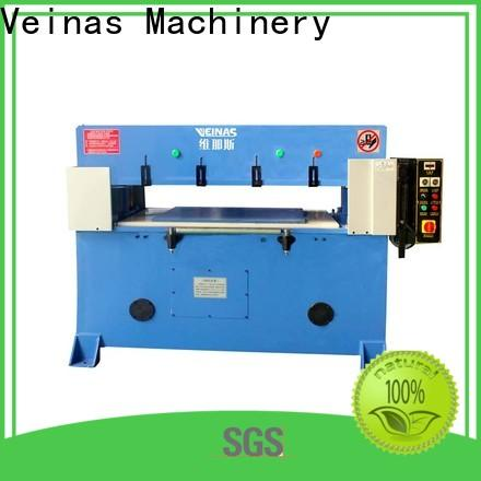 Veinas adjustable hydraulic die cutting machine manufacturer for bag factory